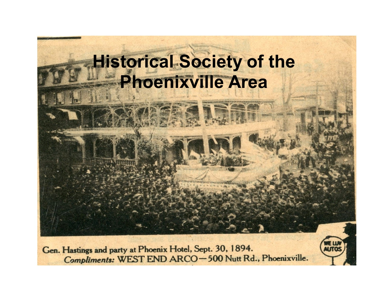 Phoenix Hotel General Hastings Party 1894 Photo 1989 131 15w 9